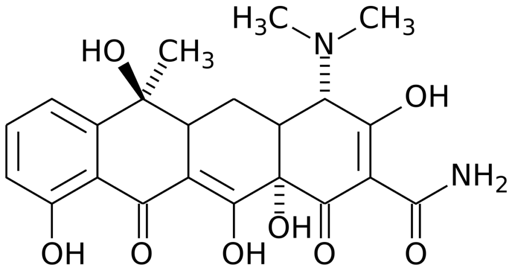tetratsiklin-formula